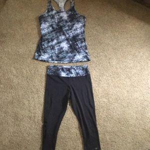 Capri leggings and matching tank top